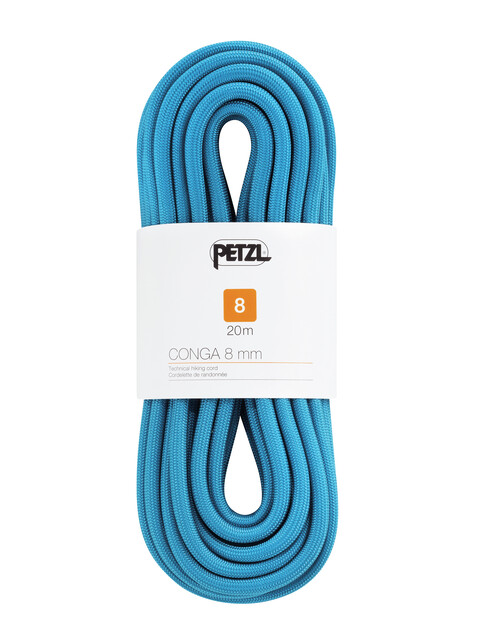 Petzl Conga Seil 8 mm x 20 m Blau